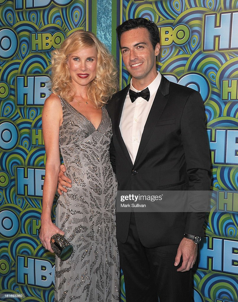 Actor Reid Scott (R) and guest attend HBO's Post Emmy Awards party at Pacific Design Center on September 22, 2013 in West Hollywood, California.