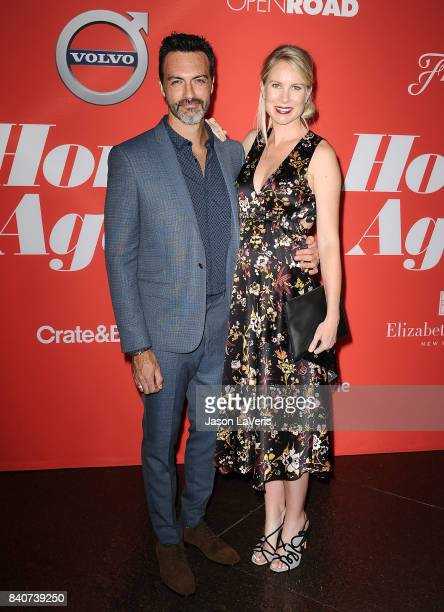 Actor Reid Scott and wife Elspeth Keller attend the premiere of 'Home Again' at Directors Guild of America on August 29 2017 in Los Angeles California