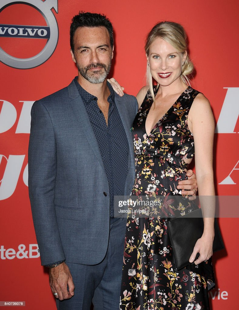 Actor Reid Scott and wife Elspeth Keller attend the premiere of 'Home Again' at Directors Guild of America on August 29, 2017 in Los Angeles, California.