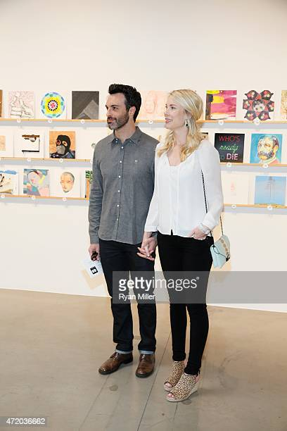 Actor Reid Scott and wife Elspeth Keller pose during the Santa Monica Museum of Art celebrates the 11th Annual 'INCOGNITO' Benefit Art Sale on April...