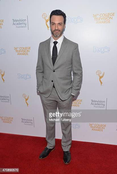 Actor Reid Scott attends the 36th College Television Awards at Skirball Cultural Center on April 23 2015 in Los Angeles California