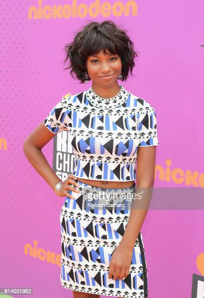 Actor Reiya Downs attends Nickelodeon Kids' Choice Sports Awards 2017 at Pauley Pavilion on July 13 2017 in Los Angeles California