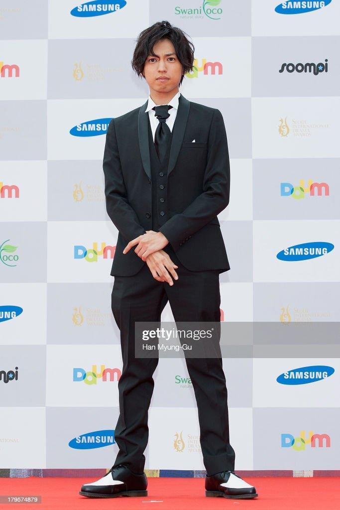 Actor Renn Kiriyama from Japan arrives for photographs at the Seoul International Drama Awards 2013 at National Theater on September 5, 2013 in Seoul, South Korea.