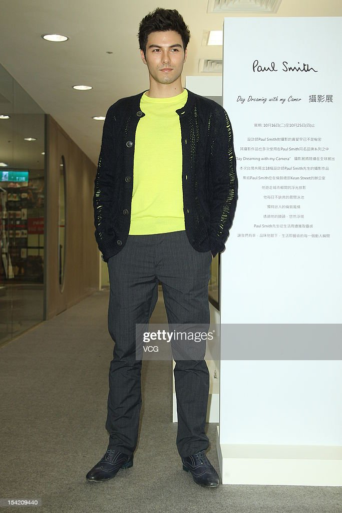 Actor Rhydian Vaughan attends Paul Smith Photo Exhibition openning ceremony at Breeze Center on October 16, 2012 in Taipei, Taiwan.