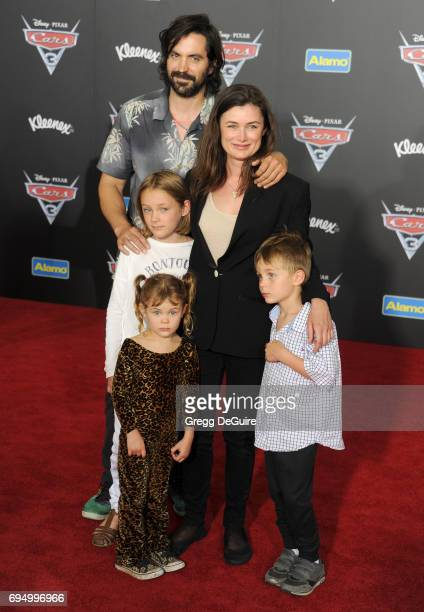 Actor Rhys Coiro and wife Kat Coiro arrive at the premiere of Disney And Pixar's 'Cars 3' at Anaheim Convention Center on June 10 2017 in Anaheim...