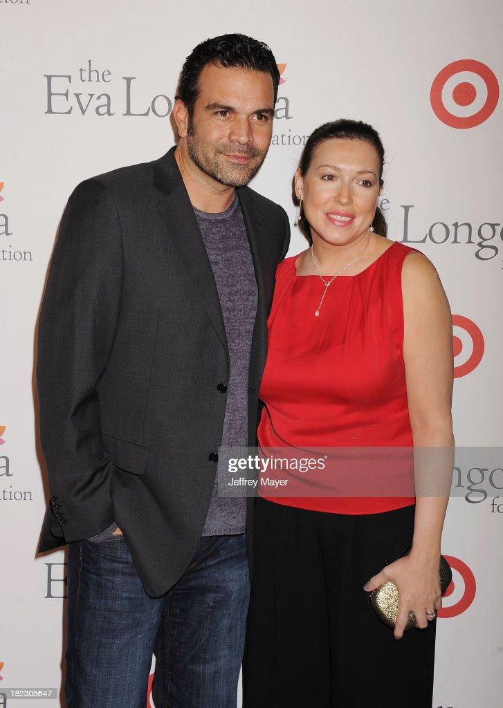 Actor Ricardo Antonio Chavira and Marcea Dietzel arrive at the Eva Longoria Foundation Dinner at Beso restaurant on September 28 2013 in Hollywood...
