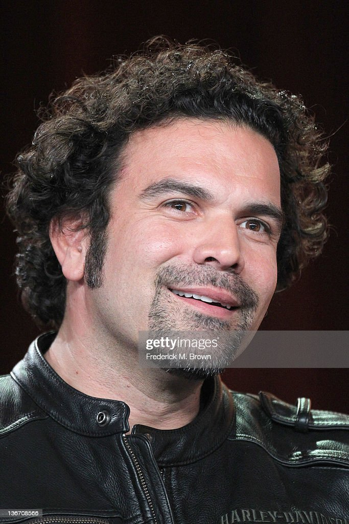Actor <a gi-track='captionPersonalityLinkClicked' href=/galleries/search?phrase=Ricardo+Antonio+Chavira&family=editorial&specificpeople=240443 ng-click='$event.stopPropagation()'>Ricardo Antonio Chavira</a> speaks during the 'Desperate Housewives' panel during the ABC portion of the 2012 Winter TCA Tour held at The Langham Huntington Hotel and Spa on January 10, 2012 in Pasadena, California.
