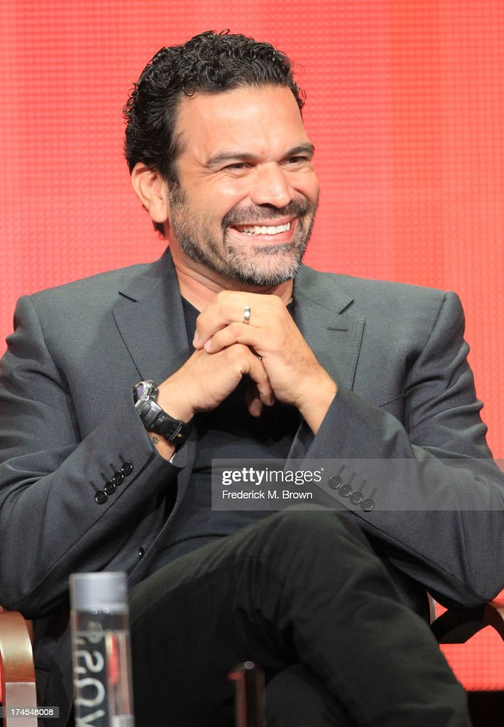 Actor Ricardo Chavira speaks onstage during the 'Welcome to the Family' panel discussion at the NBC portion of the 2013 Summer Television Critics...