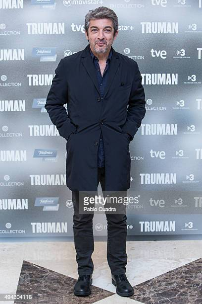 Actor Ricardo Darin attends the 'Truman' photocall at Palacio de Tepa Hotel on October 26 2015 in Madrid Spain