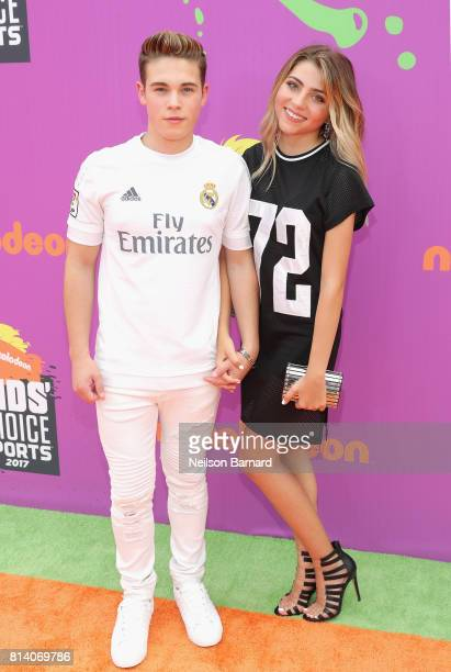 Actor Ricardo Hurtado and guest attend Nickelodeon Kids' Choice Sports Awards 2017 at Pauley Pavilion on July 13 2017 in Los Angeles California