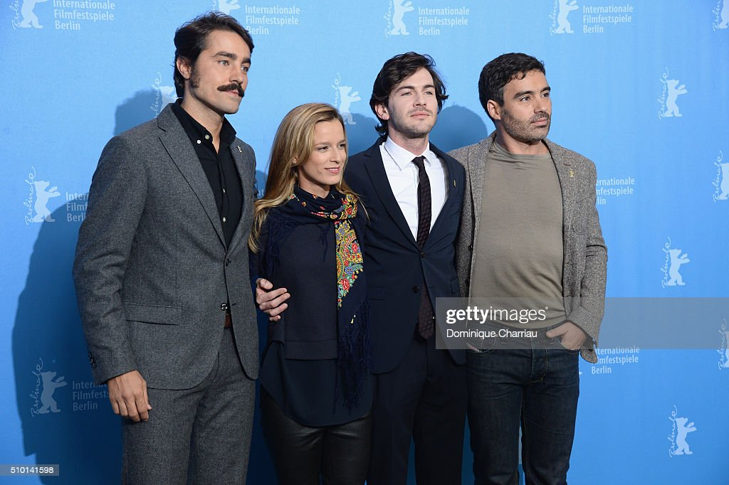 Director Ivo Ferreira, actress Margarida Vila-Nova, actors Miguel Nunes and Ricardo Pereira attend the 'Letters from War' (Cartas da guerra) photo call during the 66th Berlinale International Film Festival Berlin at Grand Hyatt Hotel on February 14, 2016 in Berlin, Germany.