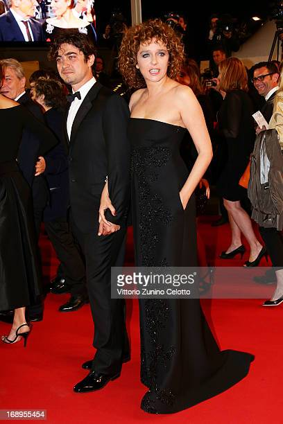 Actor Riccardo Scamarcio and director Valeria Golino attends the Premiere of 'Miele' during The 66th Annual Cannes Film Festival at Palais des...