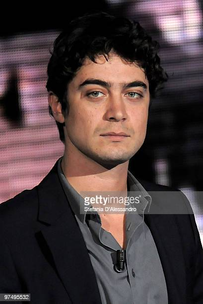 Actor Riccardo Scamarcio attends 'Che Tempo Che Fa' Italian Tv Show held at Rai Studios on March 6 2010 in Milan Italy