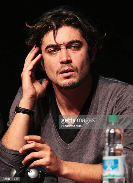 Actor Riccardo Scamarcio attends the 'Cosimo E Nicole' Press Conference during the 7th Rome Film Festival at the Auditorium Parco Della Musica on...