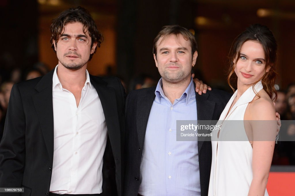Actor <a gi-track='captionPersonalityLinkClicked' href=/galleries/search?phrase=Riccardo+Scamarcio&family=editorial&specificpeople=816804 ng-click='$event.stopPropagation()'>Riccardo Scamarcio</a>, director Francesco Amato and actress Clara Ponsot attend the 'Cosimo E Nicole' Premiere during the 7th Rome Film Festival at Auditorium Parco Della Musica on November 16, 2012 in Rome, Italy.