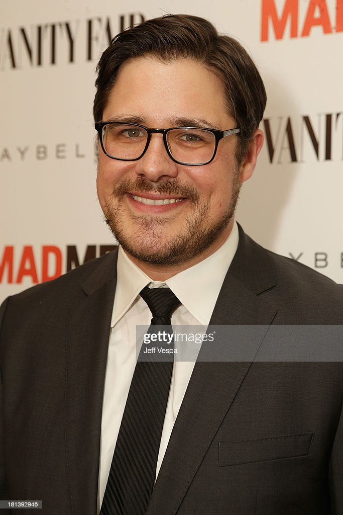 Actor <a gi-track='captionPersonalityLinkClicked' href=/galleries/search?phrase=Rich+Sommer&family=editorial&specificpeople=4406963 ng-click='$event.stopPropagation()'>Rich Sommer</a> attends Vanity Fair and Maybelline toast to 'Mad Men' at Chateau Marmont on September 20, 2013 in Los Angeles, California.