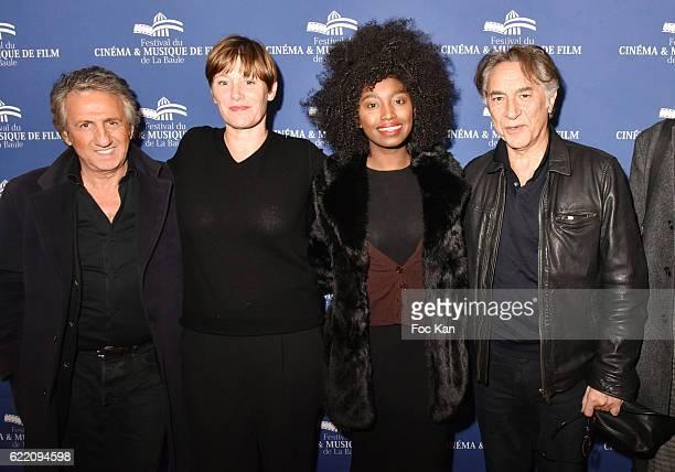 Actor Richard Anconina TV journalist Maitena Biraben singer Inna Modja and actor/director Richard Berry attend the 'Cinema Et Musique De Film 2016'...