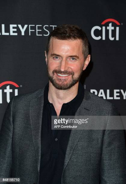 Actor Richard Armitage arrives on the red carpet for the EPIX 'Berlin Station' preview at The Paley Center for Media in Beverly Hills California on...