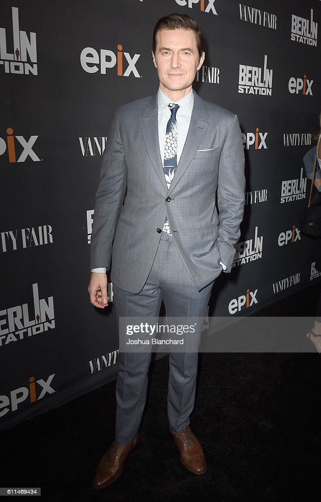 Actor Richard Armitage attends EPIX 'Berlin Station' LA premiere at Milk Studios on September 29, 2016 in Los Angeles, California.