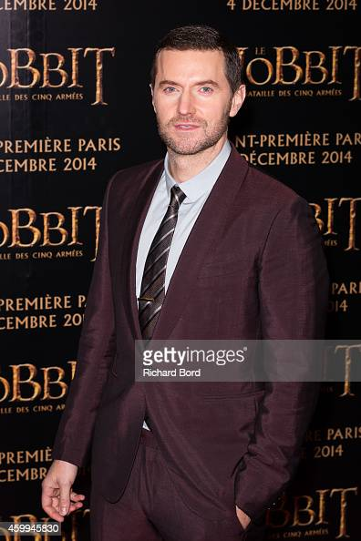 Actor Richard Armitage attends 'The Hobbit The Battle Of The Five Armies' Paris Premiere at Le Grand Rex on December 4 2014 in Paris France