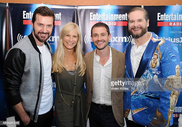 Actor Richard Armitage executive producer Martha De Laurentiis actor Hugh Dancy and executive producer Bryan Fuller attend SiriusXM's Entertainment...