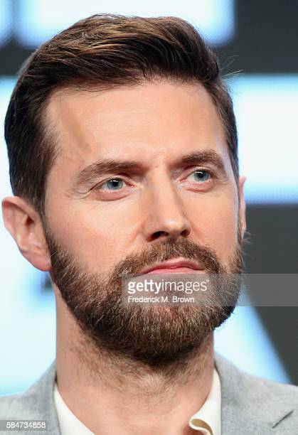 Actor Richard Armitage speaks onstage during the 'Berlin Station' panel discussion at the EPIX portion of the 2016 Television Critics Association...