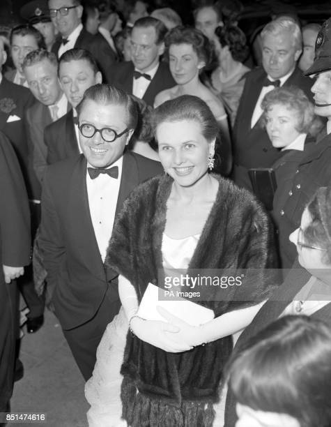 Actor Richard Attenborough and wife Sheila Sim attend the first night of musical My Fair Lady at the Theatre Royal on Drury Lane