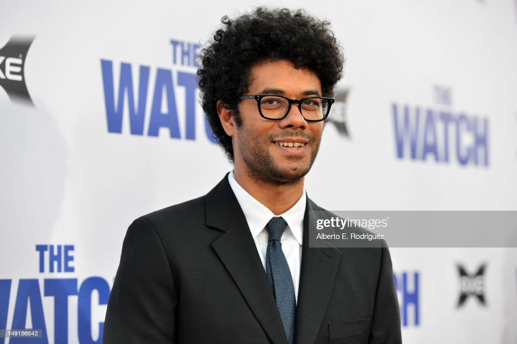 Actor <a gi-track='captionPersonalityLinkClicked' href=/galleries/search?phrase=Richard+Ayoade&family=editorial&specificpeople=5728896 ng-click='$event.stopPropagation()'>Richard Ayoade</a> arrives at the premiere of Twentieth Century Fox's 'The Watch' at Grauman's Chinese Theatre on July 23, 2012 in Hollywood, California.