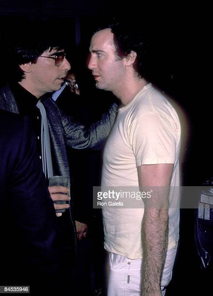 Actor Richard Belzer and actor Andy Kaufman attend the 10th Anniversary Celebration of the Catch a Rising Star Comedy Club on August 19 1982 at Catch...