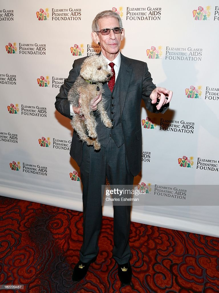 Actor <a gi-track='captionPersonalityLinkClicked' href=/galleries/search?phrase=Richard+Belzer&family=editorial&specificpeople=206227 ng-click='$event.stopPropagation()'>Richard Belzer</a> and dog Bebe attend the 2013 Elizabeth Glaser Pediatric AIDS Foundation awards dinner at Mandarin Oriental Hotel on February 20, 2013 in New York City.