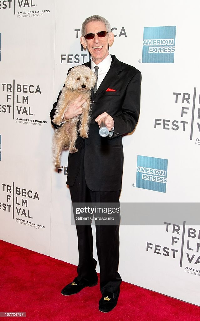 Actor <a gi-track='captionPersonalityLinkClicked' href=/galleries/search?phrase=Richard+Belzer&family=editorial&specificpeople=206227 ng-click='$event.stopPropagation()'>Richard Belzer</a> and his dog Bebe attend the closing night screening of 'The King of Comedy' during the 2013 Tribeca Film Festival at BMCC Tribeca PAC on April 27, 2013 in New York City.