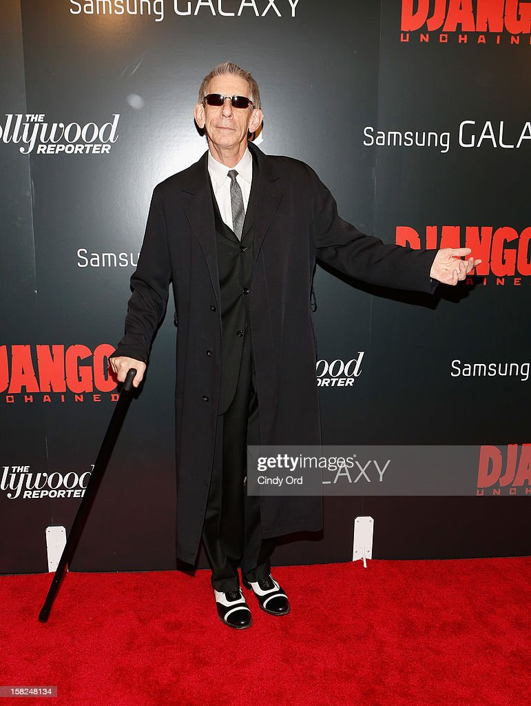 Actor Richard Belzer attends the Django Unchained NY premiere at Ziegfeld Theatre on December 11, 2012 in New York City.