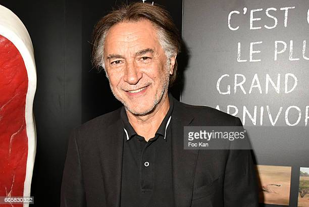 Actor Richard Berry attends the 'Charal' 30th Anniversary Pop Up Store Opening Party at Rue des Halles on September 14 2016 in Paris France