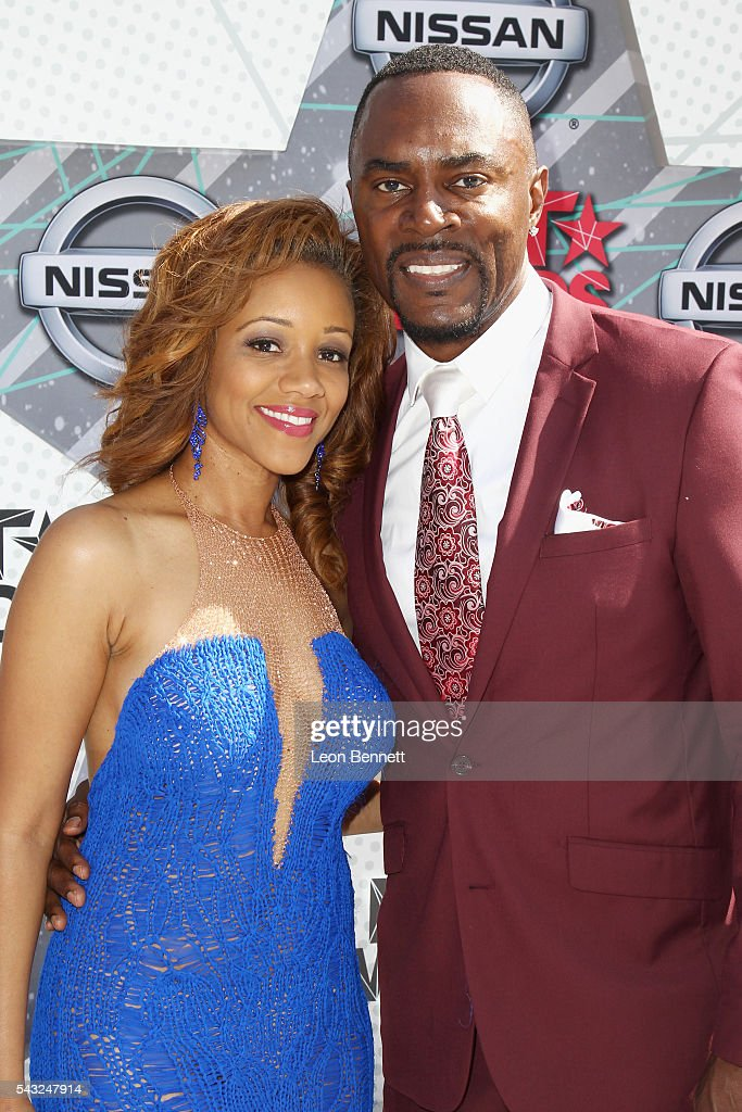 Actor Richard Brooks and Chrystee Phariss attend the Make A Wish VIP Experience at the 2016 BET Awards on June 26, 2016 in Los Angeles, California.