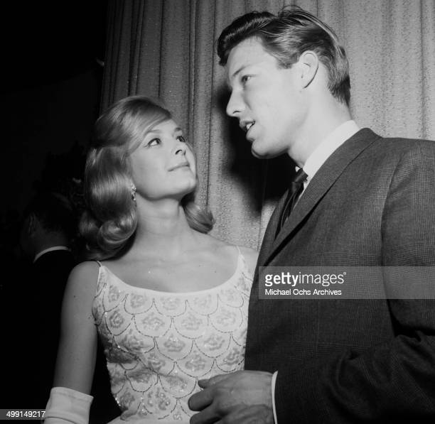 Actor Richard Chamberlain with Carole Wells attend a party in Los Angeles California