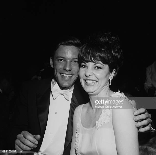 Actor Richard Chamberlain with Clara Ray attend a premier in Los Angeles California