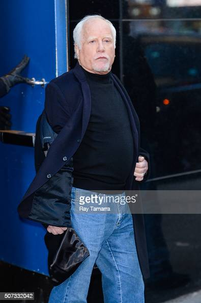 Actor Richard Dreyfuss leaves the 'Good Morning America' taping at the ABC Times Square Studios on January 28 2016 in New York City