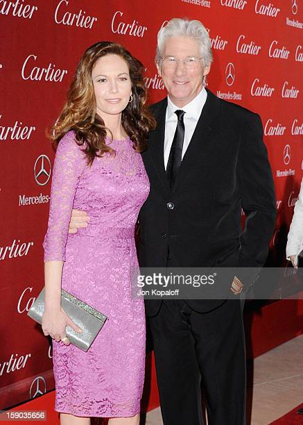 Actor Richard Gere and actress Diane Lane arrive at the 24th Annual Palm Springs International Film Festival Awards Gala at Palm Springs Convention...