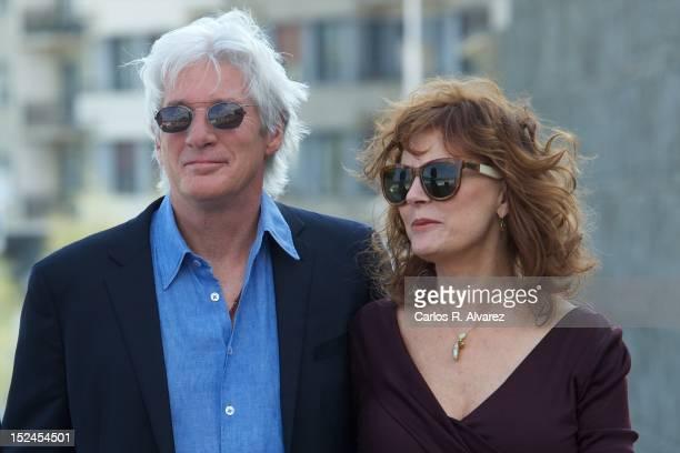 Actor Richard Gere and actress Susan Sarandon attend 'Arbitrage' photocall at the Kursaal Palace during the 60th San Sebastian International Film...