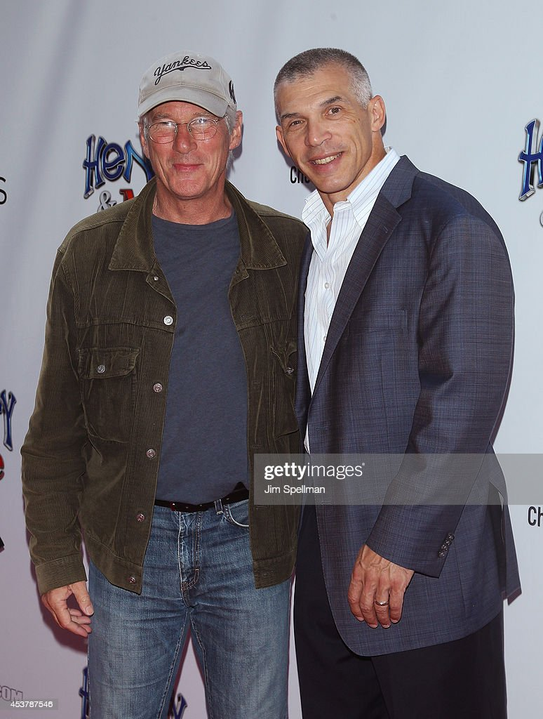 Actor Richard Gere and baseball manager Joe Girardi attends the 'Henry & Me' New York Premiere at Ziegfeld Theatre on August 18, 2014 in New York City.