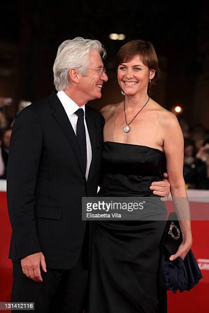 Actor Richard Gere and Carey Lowell walk the Closing Ceremony Red Carpet during 6th International Rome Film Festival on November 4 2011 in Rome Italy