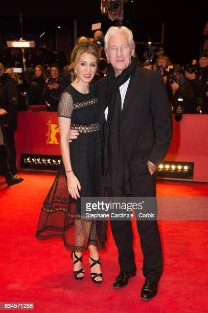 Actor Richard Gere and girlfriend Alejandra Silva attend the 'The Diner' premiere during the 67th Berlinale International Film Festival Berlin at...