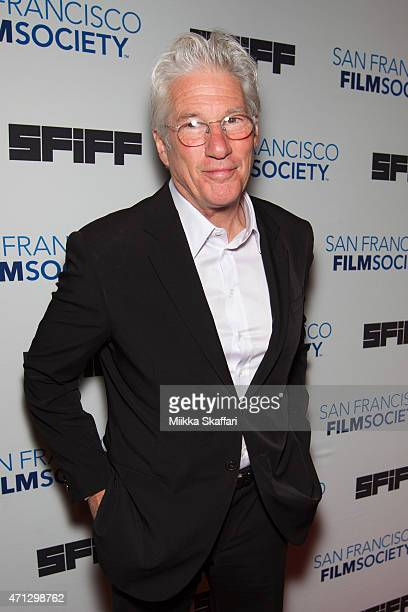 Actor Richard Gere arrives at Peter J Owens Award An Evening with Richard Gere Time Out Of Mind during the 58th San Francisco International Film...
