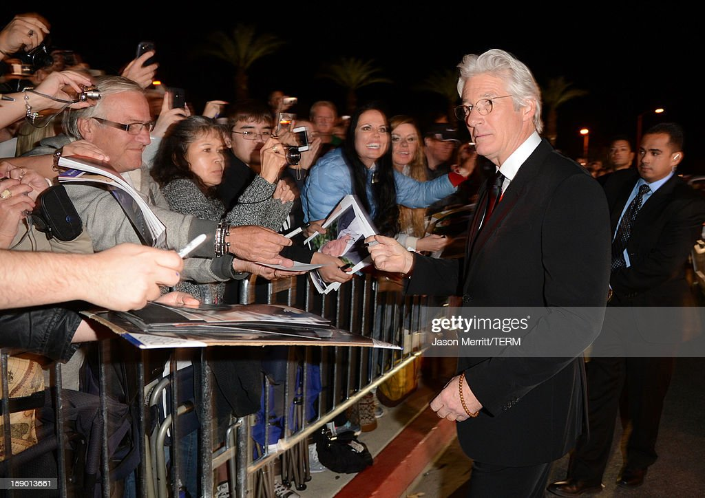 Actor Richard Gere arrives at the 24th annual Palm Springs International Film Festival Awards Gala at the Palm Springs Convention Center on January 5, 2013 in Palm Springs, California.