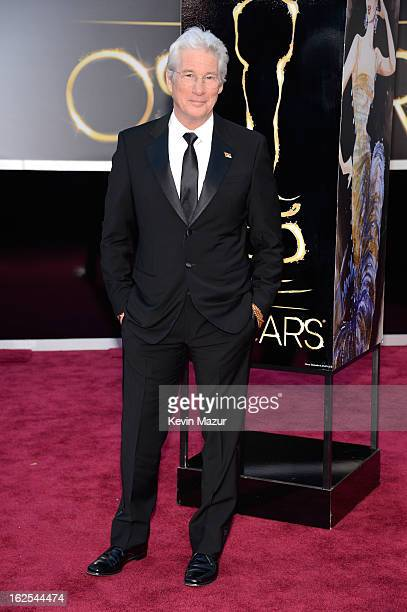 Actor Richard Gere arrives at the Oscars at Hollywood Highland Center on February 24 2013 in Hollywood California