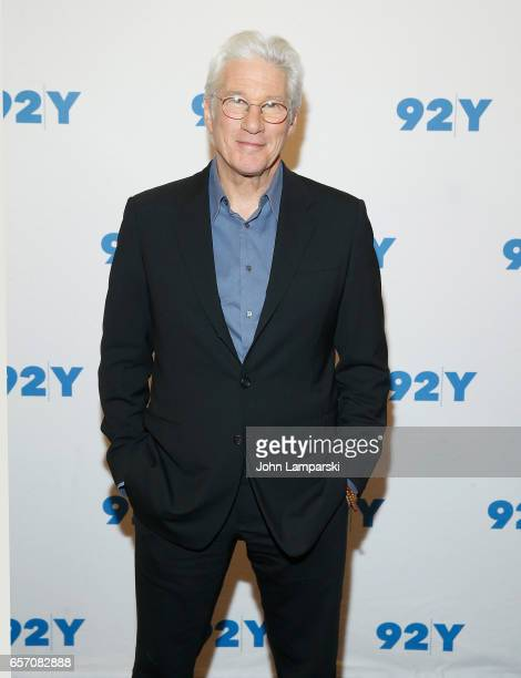 Actor Richard Gere attends 92Y Reel Pieces Presents Norman The Moderate Rise And Tragic Fall Of A New York Fixer at 92nd Street Y on March 23 2017 in...