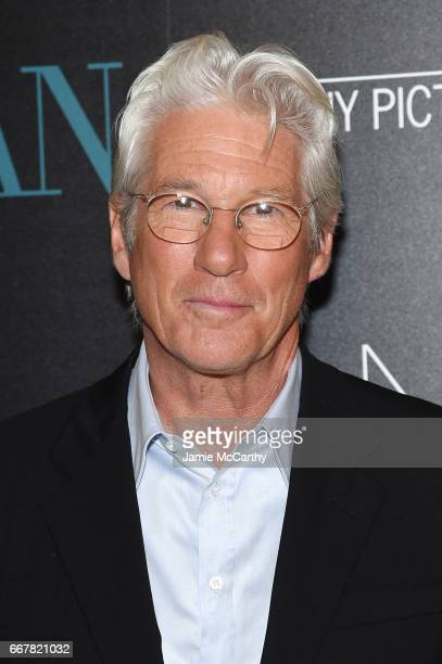 Actor Richard Gere attends a screening of Sony Pictures Classics' 'Norman' hosted by The Cinema Society at the Whitby Hotel on April 12 2017 in New...