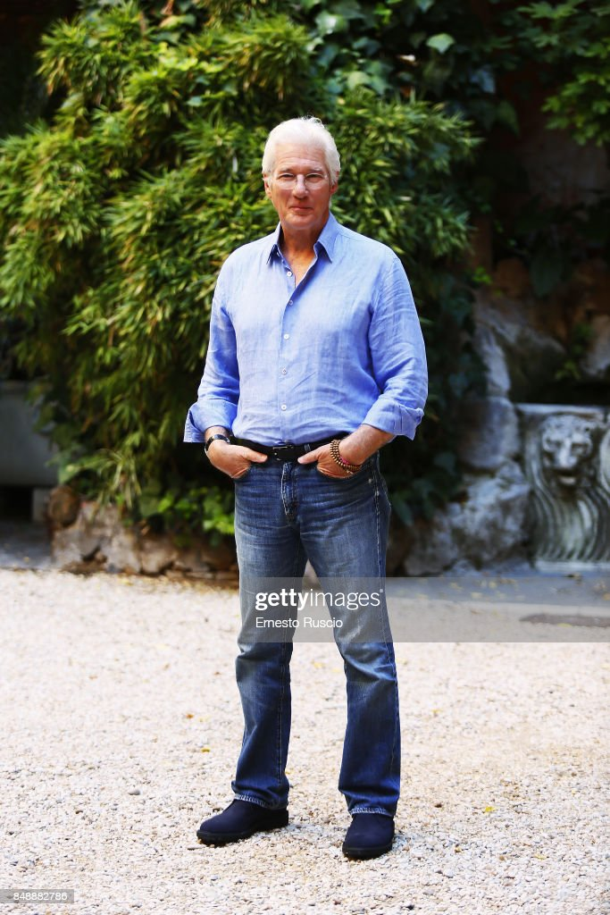Actor Richard Gere attends 'Norman: The Moderate Rise and Tragic Fall of a New York Fixer' photocall on September 18, 2017 in Rome, Italy.