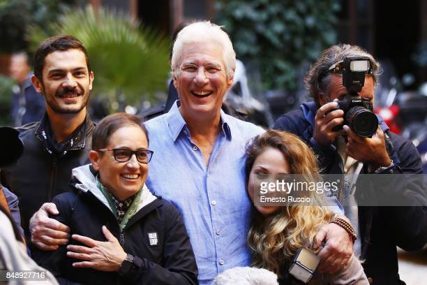Actor Richard Gere attends 'Norman The Moderate Rise and Tragic Fall of a New York Fixer' photocall on September 18 2017 in Rome Italy