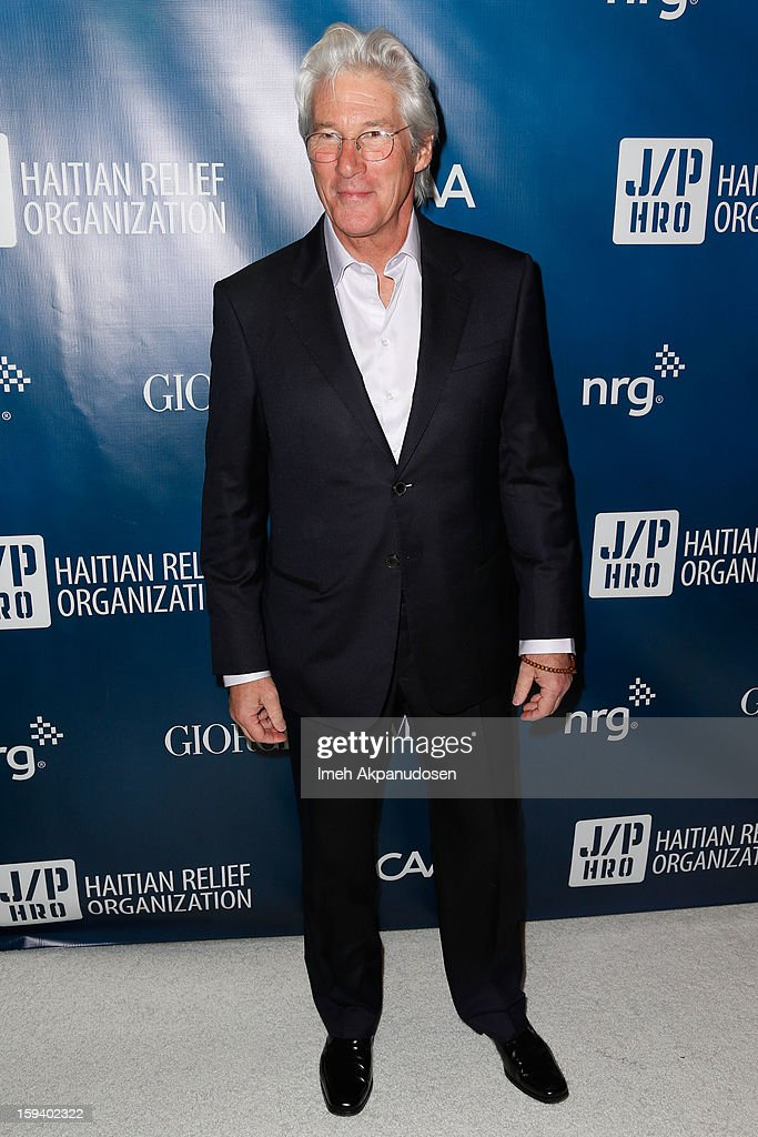Actor <a gi-track='captionPersonalityLinkClicked' href=/galleries/search?phrase=Richard+Gere&family=editorial&specificpeople=202110 ng-click='$event.stopPropagation()'>Richard Gere</a> attends the 2nd Annual Sean Penn and Friends Help Haiti Home Gala benefiting J/P HRO presented by Giorgio Armani at Montage Hotel on January 12, 2013 in Los Angeles, California.